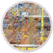 Messy Background Round Beach Towel by Carlos Caetano