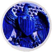 Metal American Eagle Symbol Round Beach Towel
