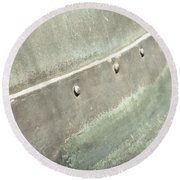 Metal Container Round Beach Towel by Tom Gowanlock