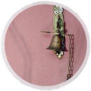 Metal Doorbell Antique Round Beach Towel