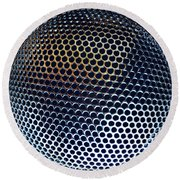 Metal Mesh Round Beach Towel by Les Cunliffe