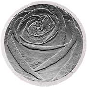 Metal Rose Round Beach Towel