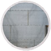 Metal Silo With Door Round Beach Towel