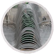Metal Strips Round Beach Towel