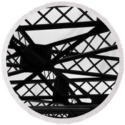 Metal Structure Round Beach Towel