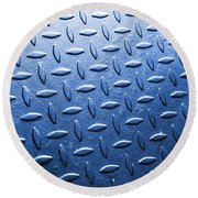 Metallic Floor Round Beach Towel