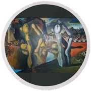 Metamophosis Of Narcissus Round Beach Towel
