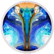 Metamorphosis - Abstract Art By Sharon Cummings Round Beach Towel