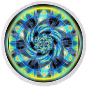Metatron Swirl Round Beach Towel