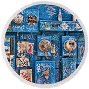 Meter Graffiti New Orleans Style Round Beach Towel