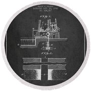 Method Of Drilling Wells Patent From 1906 - Dark Round Beach Towel
