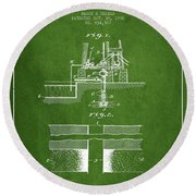 Method Of Drilling Wells Patent From 1906 - Green Round Beach Towel