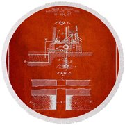 Method Of Drilling Wells Patent From 1906 - Red Round Beach Towel