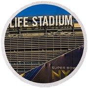 Metlife Stadium Super Bowl Xlviii Ny Nj Round Beach Towel
