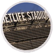 Metlife Stadium Round Beach Towel