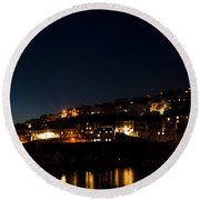 Mevagissy Nights Round Beach Towel