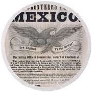Mexican American War Flyer Round Beach Towel