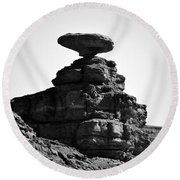 Mexican Hat Rock Round Beach Towel