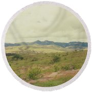 Mexican Mountains Round Beach Towel