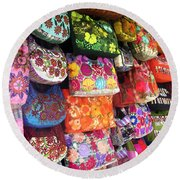 Mexican Purses Round Beach Towel