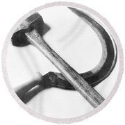 Mexican Revolution Hammer And Sickle Round Beach Towel