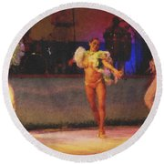 Mexican Traditional Dancers Round Beach Towel