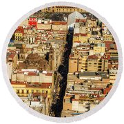 Mexico City Cathedral And Zocalo Round Beach Towel by Jess Kraft
