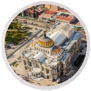 Mexico City Fine Arts Museum Round Beach Towel by Jess Kraft