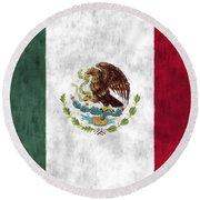 Mexico Flag Round Beach Towel