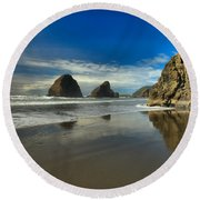 Meyers Creek Beach Round Beach Towel