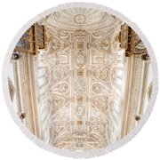 Mezquita Cathedral Ceiling In Cordoba Round Beach Towel