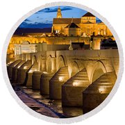 Mezquita Cathedral In Cordoba Round Beach Towel