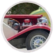 Mg Engine Round Beach Towel