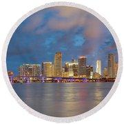 Miami - The Magic City Round Beach Towel