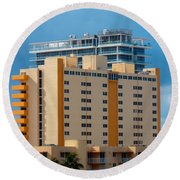 Miami Apartments Round Beach Towel
