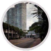 Miami Beach-0166 Round Beach Towel