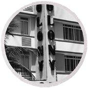 Miami Beach - Art Deco 17 Round Beach Towel