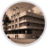 Miami Beach - Art Deco 35 Round Beach Towel
