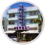 Miami Beach - Art Deco 37 Round Beach Towel