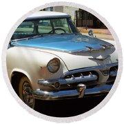 Miami Beach Classic Car 2 Round Beach Towel