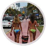 Miami Vice Round Beach Towel