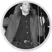 Michael Bolton Round Beach Towel