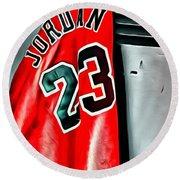 Michael Jordan 23 Shirt Round Beach Towel