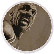 Michael Jordan - Practice Round Beach Towel by Richard Tito