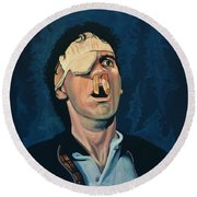 Michael Palin Round Beach Towel by Paul Meijering