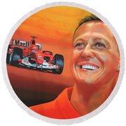 Michael Schumacher 2 Round Beach Towel