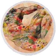 Michelangelo  Round Beach Towel by Mark Ashkenazi