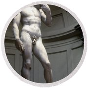 Michelangelo's David Round Beach Towel