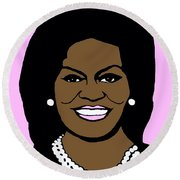 Michelle Obama Round Beach Towel
