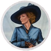 Michelle Pfeiffer Round Beach Towel